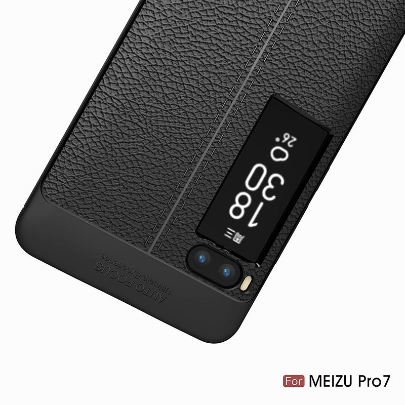 Litchi leather silicone case Meizu Pro 7 (11)