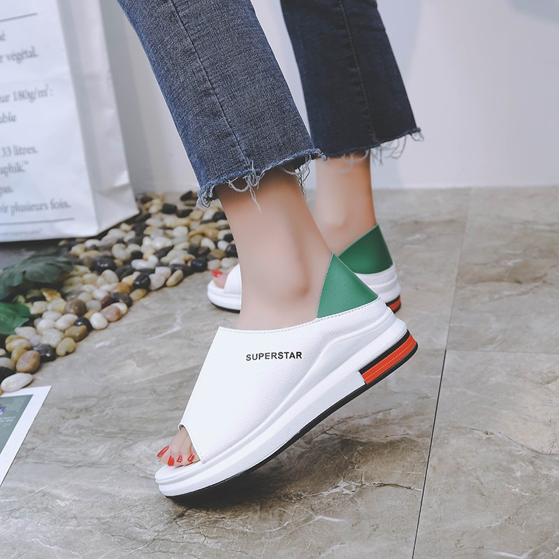 HTB1NWXPaOnrK1Rjy1Xcq6yeDVXap 2019 New Fashion Women Sandals Summer Platform Sandal Shoes Woman Peep Toe Leather Beach Flat Casual Sandalias Mujer Plus Size