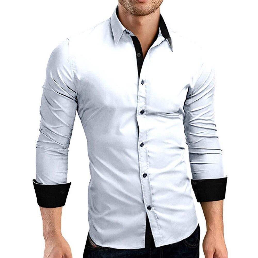 HTB1NWXqXsTxK1Rjy0Fgq6yovpXa9 - #4 DROPSHIP 2018 NEW HOT Fashion Men's Autumn Casual Formal Solid Slim Fit Long Sleeve Dress Shirt Top Blouse Freeship