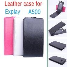 Для Explay A500 Бизнес Защитная Кожа Flip Vertical Чехол На для Explay 500 Luxurty Жесткий Передняя И Задняя Крышка Доказательства