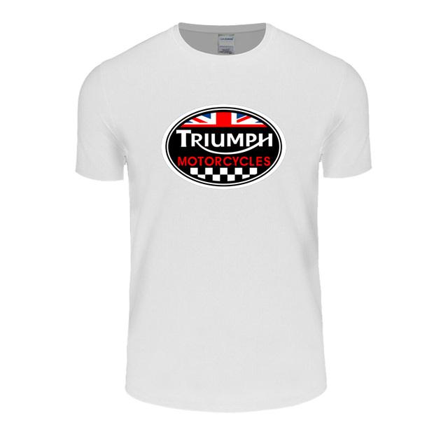 GRÃ-BRETANHA TRIUMPH MOTOCICLETA T-shirt de Manga Curta