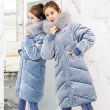 new winter jacket women 2018 long cotton-padded hooded jacket parka female wadded jacket outerwear winter coat women цена в Москве и Питере