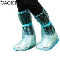 reusable Rain shoes cover Women/men/kids children thicken waterproof Boots Cycle Rain Flat Slip-resistant Overshoes