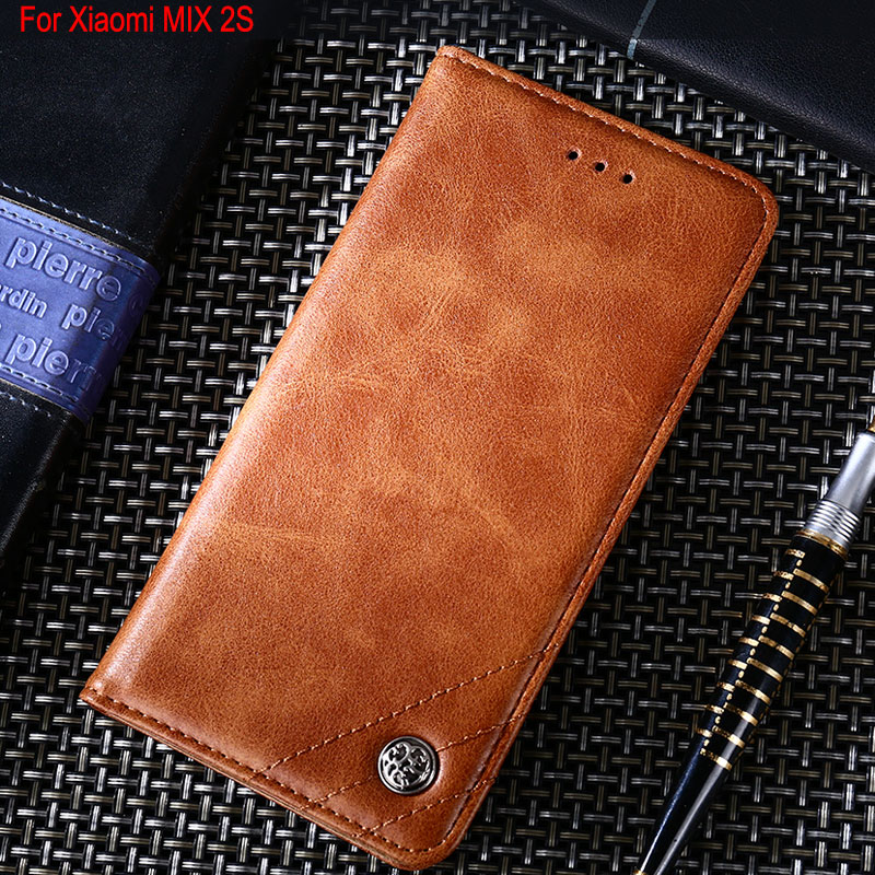 for Xiaomi Mi MIX 2S case Luxury Leather Flip cover Stand Card Slot Without magnets Business Cases for Xiaomi mi mix 2s funda