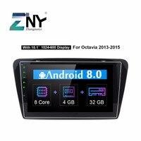 10,1 ips Android 8,0 Автомобиль Стерео Авторадио для Skoda Octavia A7 2013 2016 мультимедиа FM RDS gps навигации 4 + 32 GB подарок Камера