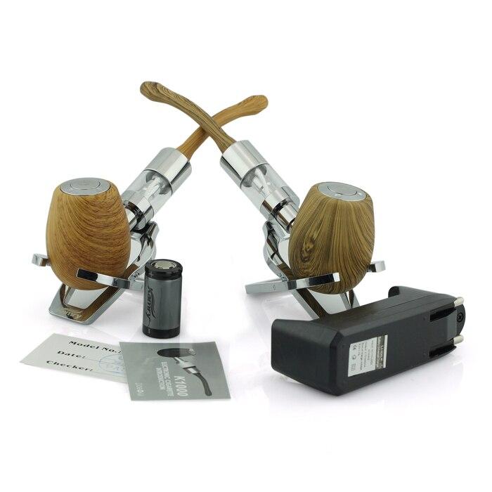 Original K1000 e tubería mecánica mod kit con 3.0 ml atomizador kamry marca madera e tuberías cigarrillo enorme vapor con batería