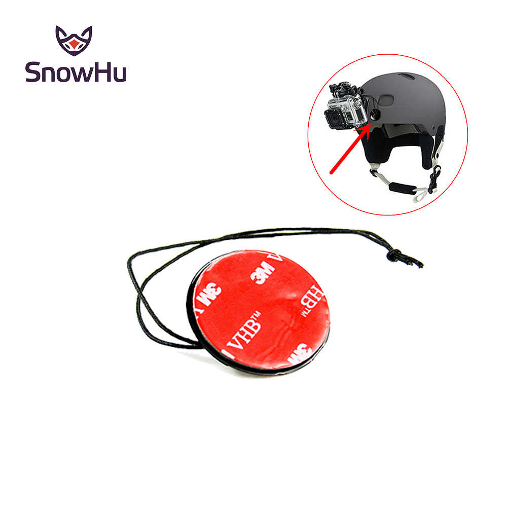 SnowHu for Gopro accessories Camera Tether Strap with 3M Sticker Mount  for Gopro Hero 8 7 6 5SJ4000 SJcam xiaomi yi camera GP21