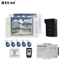 8 LCD Video Door Phone Intercom System Access Control System 700TVL COMS Camera Video Recording Photo