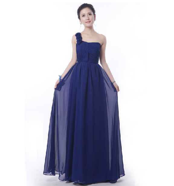 ... Robe demoiselle d honneur 2019 new chiffon A Line 5 style royal blue  bridesmaid dresses ... 4d71329ae593