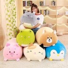 30-90cm Large Size Toys Soft Animal Pillow Cushion Fat Dog Cat Totoro Penguin Pig Frog Plush Toy Stuffed kids Birthyday Gift