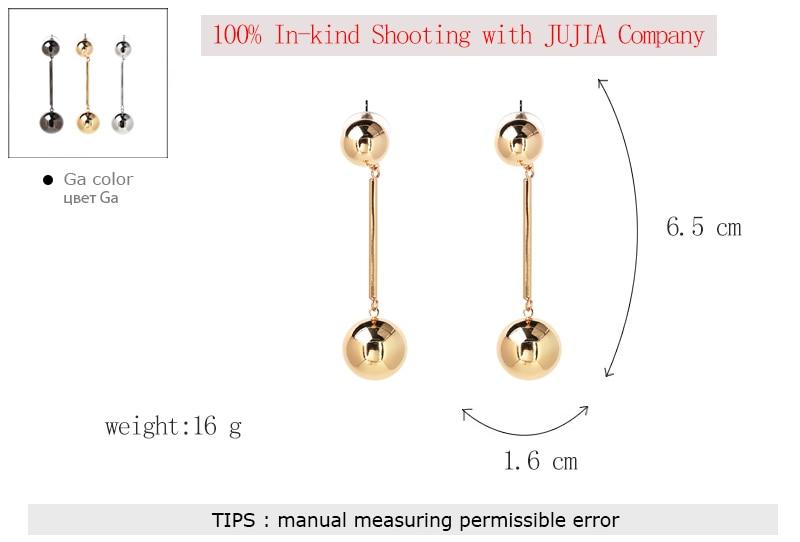 JUJIA nye god kvalitet Circle Bib Perler glat ansigtserklæring Maxi - Mode smykker - Foto 5