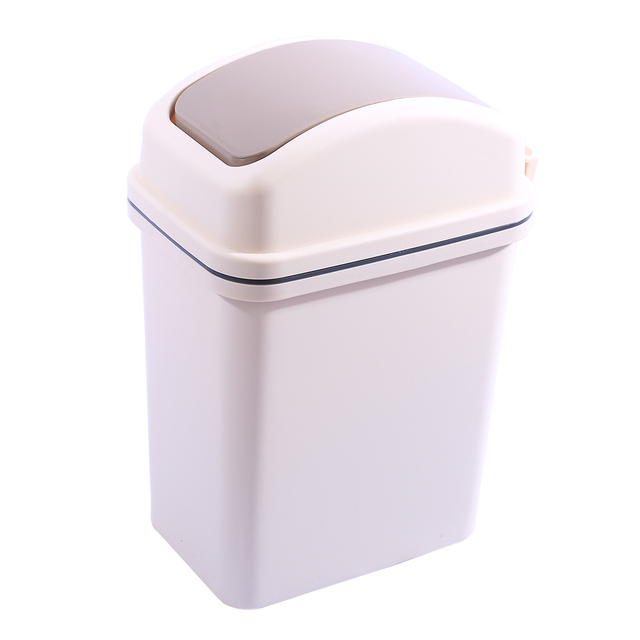Trash Can Kitchen Undermount Sinks Stainless Steel 10l Plastic Swivelling Cover Living Room Flip Top Garbage Bin