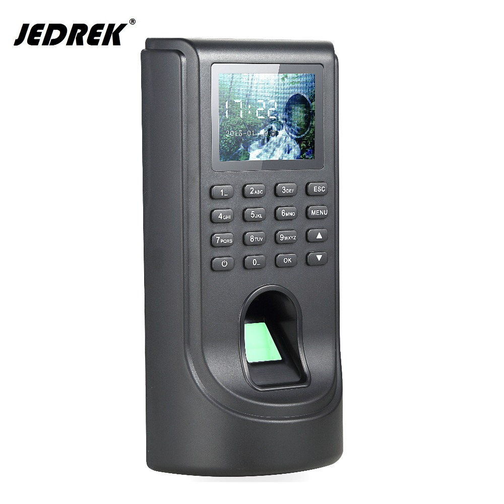 Color lcd TCP/IP Biometric Fingerprint time attendance keypad for Door Access Control System buy one get a power supply free zk iface701 face and rfid card time attendance tcp ip linux system biometric facial door access controller system with battery