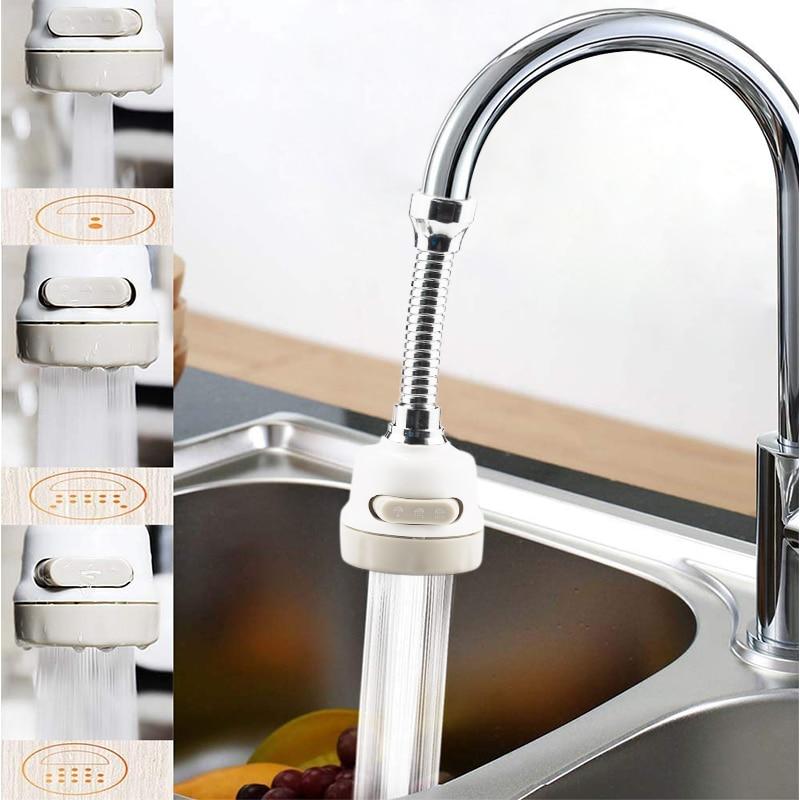 Kitchen Faucet Extender: Kitchen Rotating Shower Mixer Water Saver 3 Mode