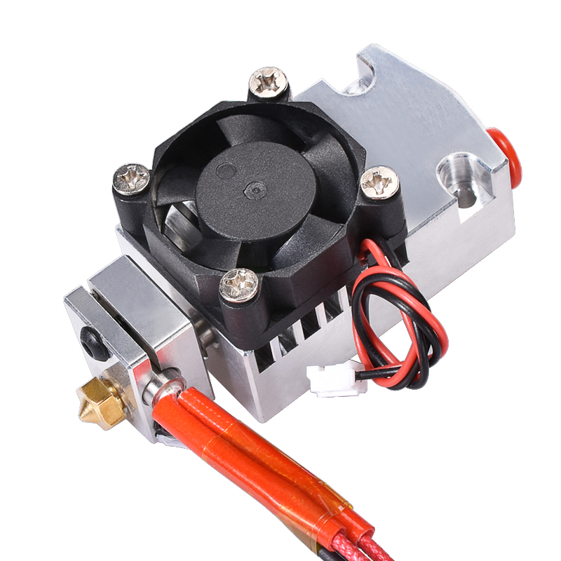 BIQU New 3D printer part 2 in 1 out Extruder with single cooling fan for Dual color Cyclops 12V 24V heater for Selection BIQU New 3D printer part 2 in 1 out Extruder with single cooling fan for Dual color Cyclops 12V 24V heater for Selection
