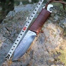 2016 couteau de chasse en plein air couteau forgé à la main collection dao haute dureté couteau droit couteau de pêche