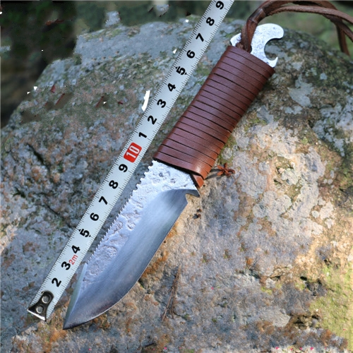 ФОТО 2016 Outdoor hunting knife hand forged knife collection dao high hardness Straight knife Fishing knife