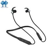 Per la PRIMA volta del Trasduttore Auricolare di Bluetooth Per Il Telefono Senza Fili di Bluetooth di Sport Della Cuffia Magnete Stereo Cuffie Con Microfono