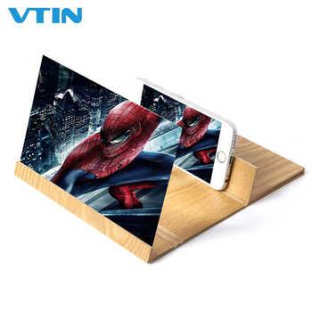 12 pouces en bois téléphone écran loupe amplificateur support support grossissement Protection des yeux pour Smartphone livraison directe