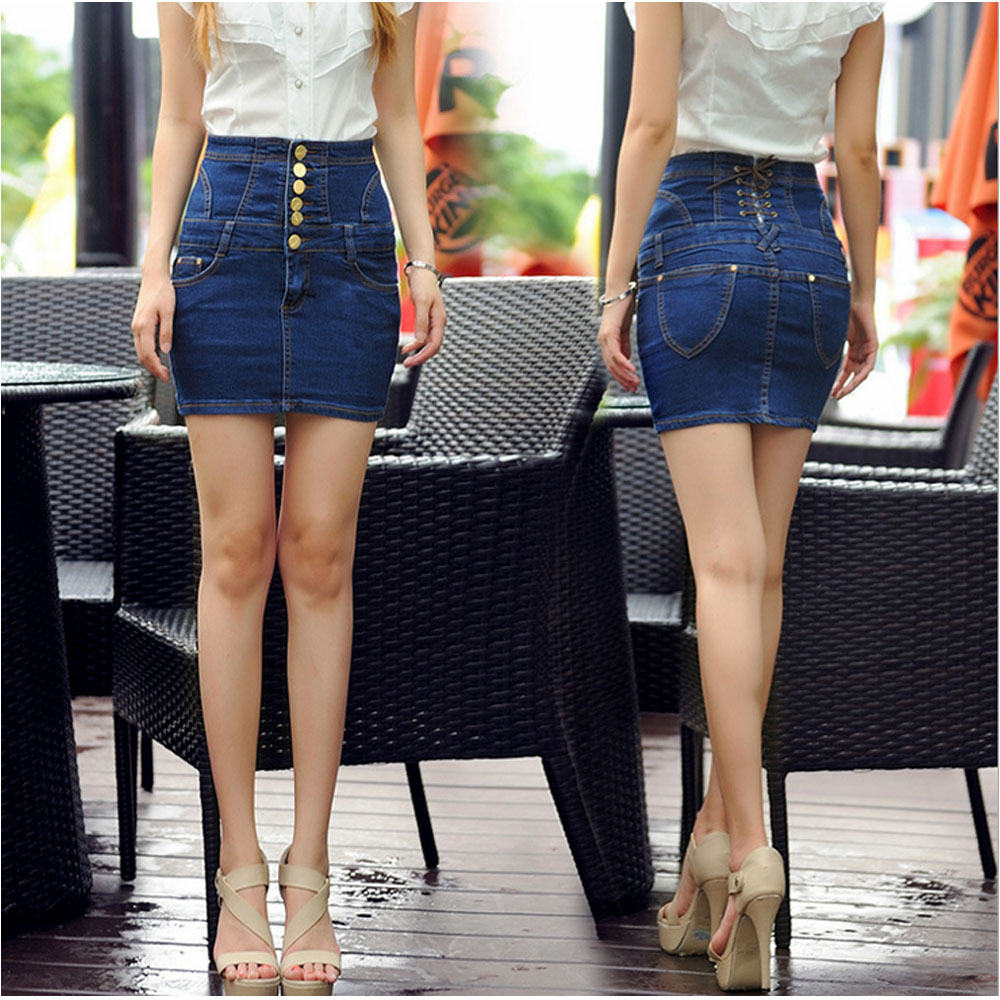 Compare Prices on Fitted Jean Skirt- Online Shopping/Buy Low Price ...