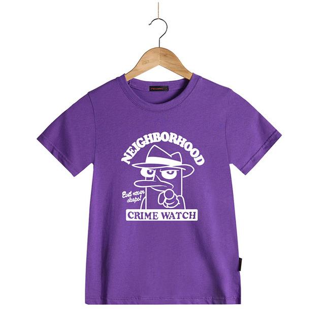 Enfants D'été Marque-vêtements Enfants Garçons T-shirts Perry L'ornithorynque Bande Dessinée À Manches Courtes Enfant T-shirt En Coton Filles T-shirts Tops
