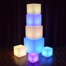 10CM/15CM/20CM Remote LED Colorful Changing Mood Cubes Night Rechargeable Glow Lamp Light Home Decor Romantic Lighting Q