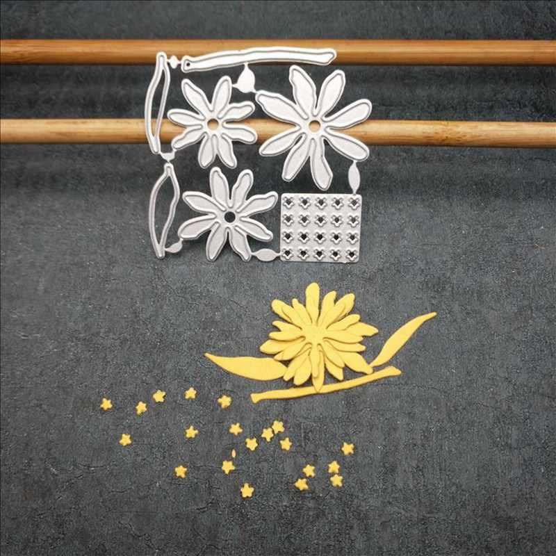 金属切削ダイスカット金型新花デイジースクラップブック紙クラフトナイフ金型ブレードパンチステンシル金型