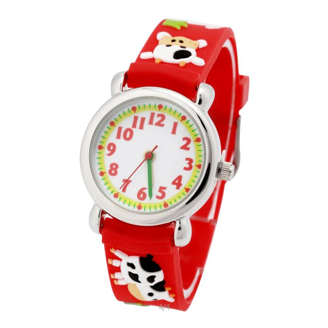 Waterproof Kid Watches Cow Children Silicone Wristwatches Brand Quartz Wrist Watch Baby For Girls Boys Fashion Casual Reloj 3d eye despicable me minion cartoon watch precious milk dad cute children clock baby kid quartz wrist watches for girls boys