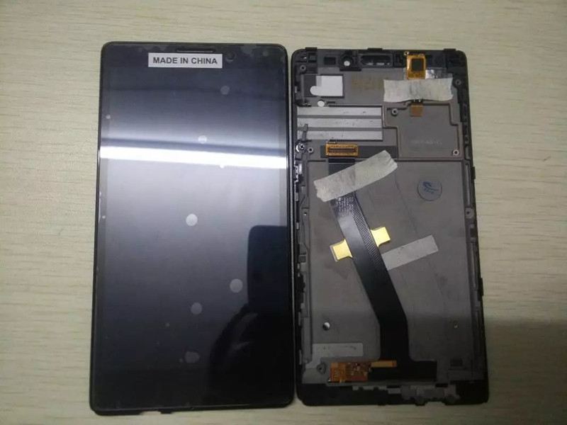 For Lenovo Vibe Z K910 Full LCD Display + Touch Panel Screen Glass Assembly With Frame Replacement Parts Free shipping аксессуар чехол lenovo k10 vibe c2 k10a40 zibelino classico black zcl len k10a40 blk