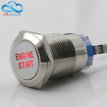 19 mm reset button switch moment motor start 3 a 220 v copper plating nickel head can be customized