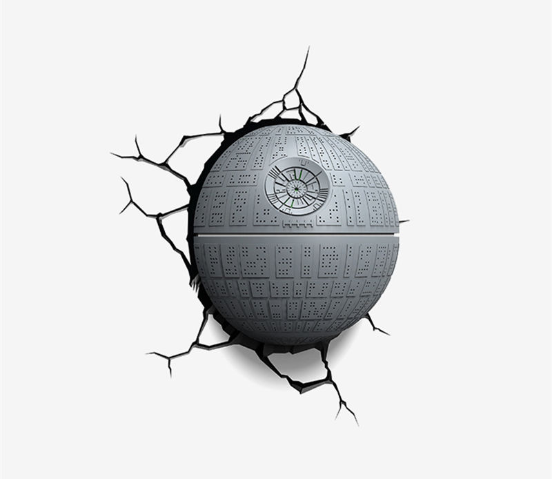 [Funny] Creative Star Wars Death Star figures model 3D Wall Lamp Unique LED light lamp Ornament Home room decorations gift стоимость