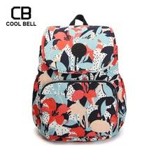 Women Bag Nylon Waterproof School Backpack For Girls Teenager Print Small Foldable Students