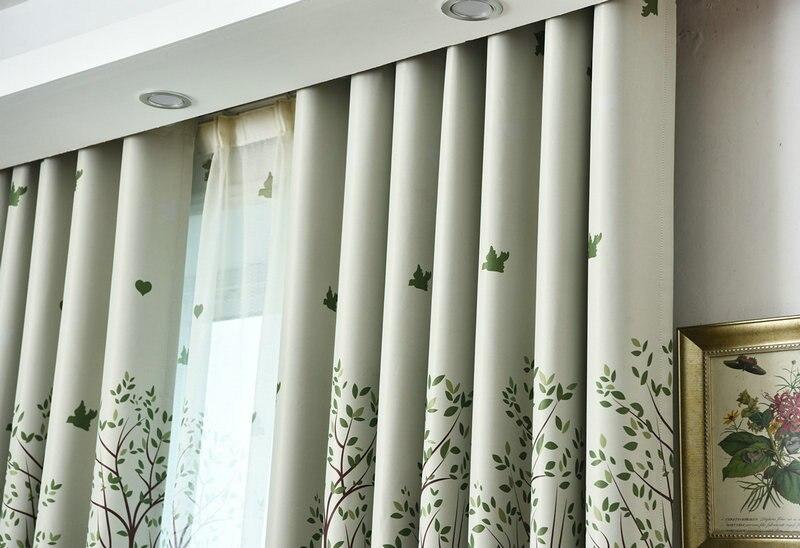 Verduisterings Gordijn 6 : Aangekomen venster behandeling gedrukt blind gordijn voor