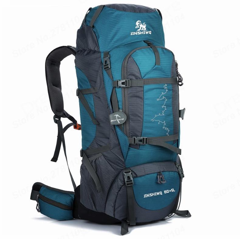 f5ccca404384 Outdoor Bags 85L Hiking Climbing Backpack External frame Camping bag man  women Large unisex Rucksack trekking backpacks #371877