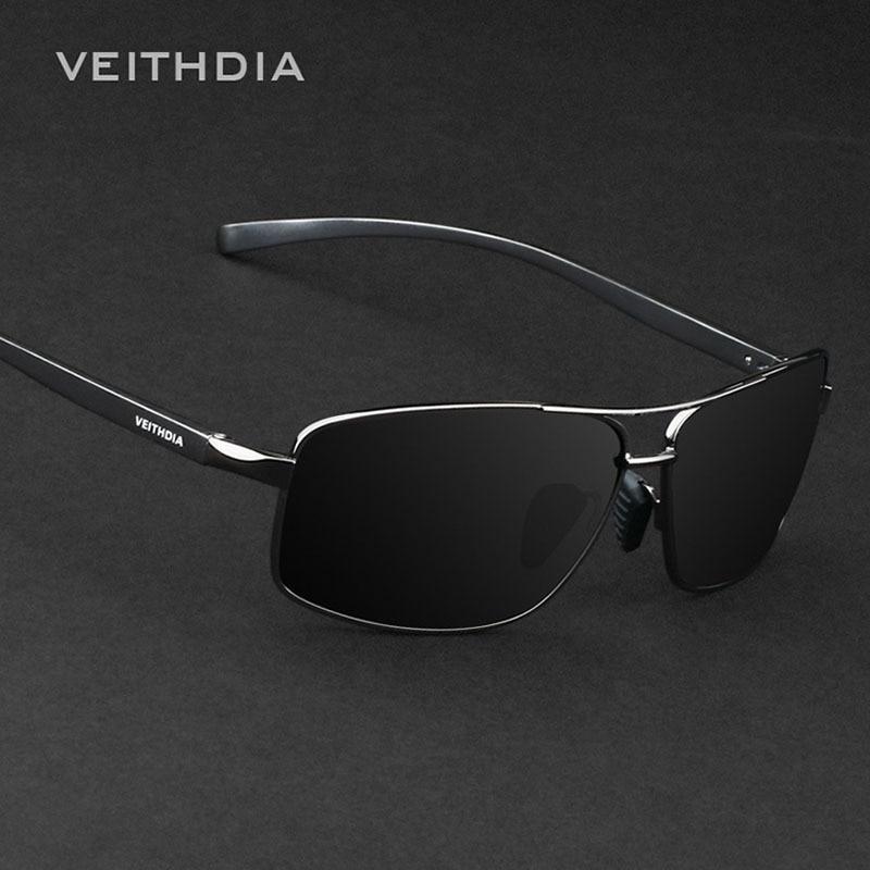 Nova Marca óculos de Sol dos homens Polarizados VEITHDIA Alumínio Óculos Óculos Acessórios Óculos de Sol Para Homens óculos de sol masculino 2458