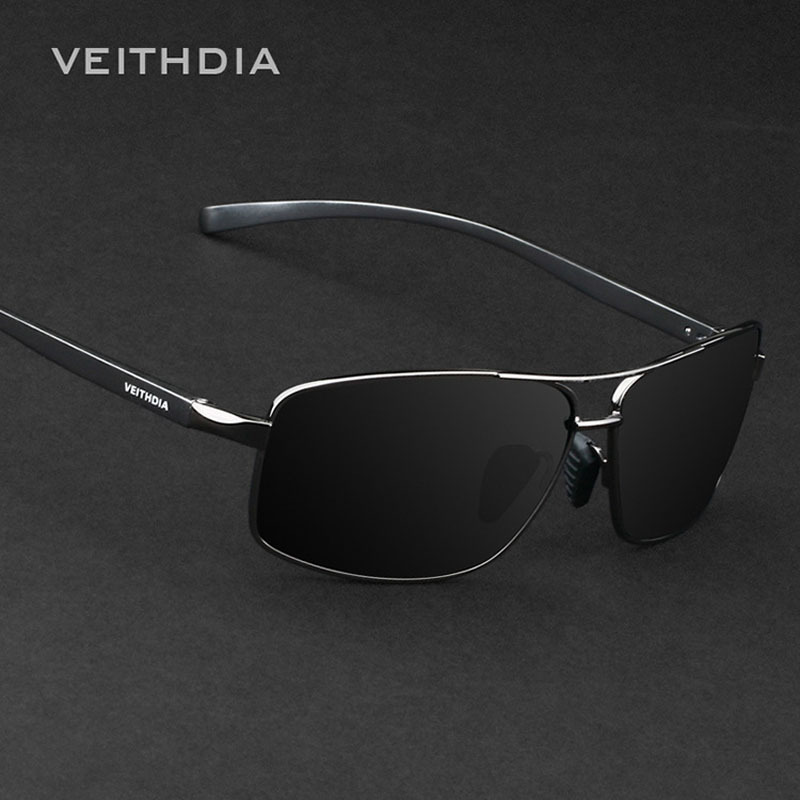 VEITHDIA Brand New Polarized Men's Sunglasses Aluminum Sun Glasses Eyewear Accessories For Men oculos de sol masculino 2458 brand sunglasses women with packing box oculos de sol feminino rimless summer eyewear with butterfly sun glasses
