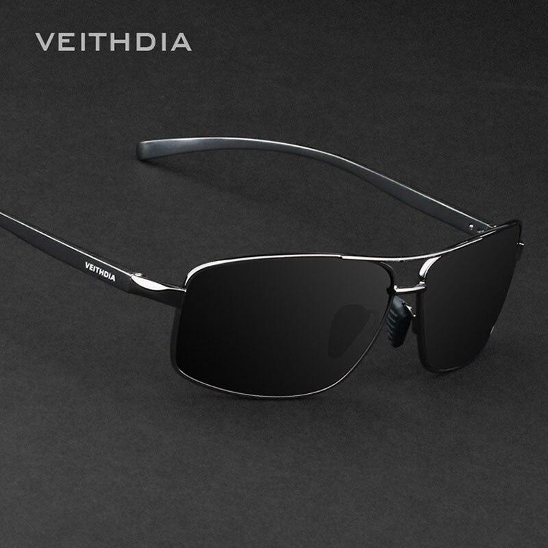 Veithdia marca nova polarizada óculos de sol de alumínio dos homens acessórios para homens óculos de sol masculino 2458
