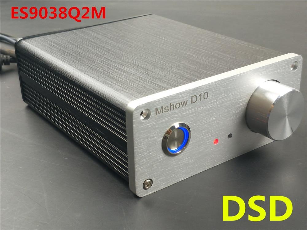 Mshow D10 ES9038 Q2M ES9038Q2M DAC IIS DSD 384KHZ HIFI Audio OPTION Amanero or XMOS xu208 USB musiland 01us mark2 usb hifi external sound card hardware decoding dsd support 32bit 384khz