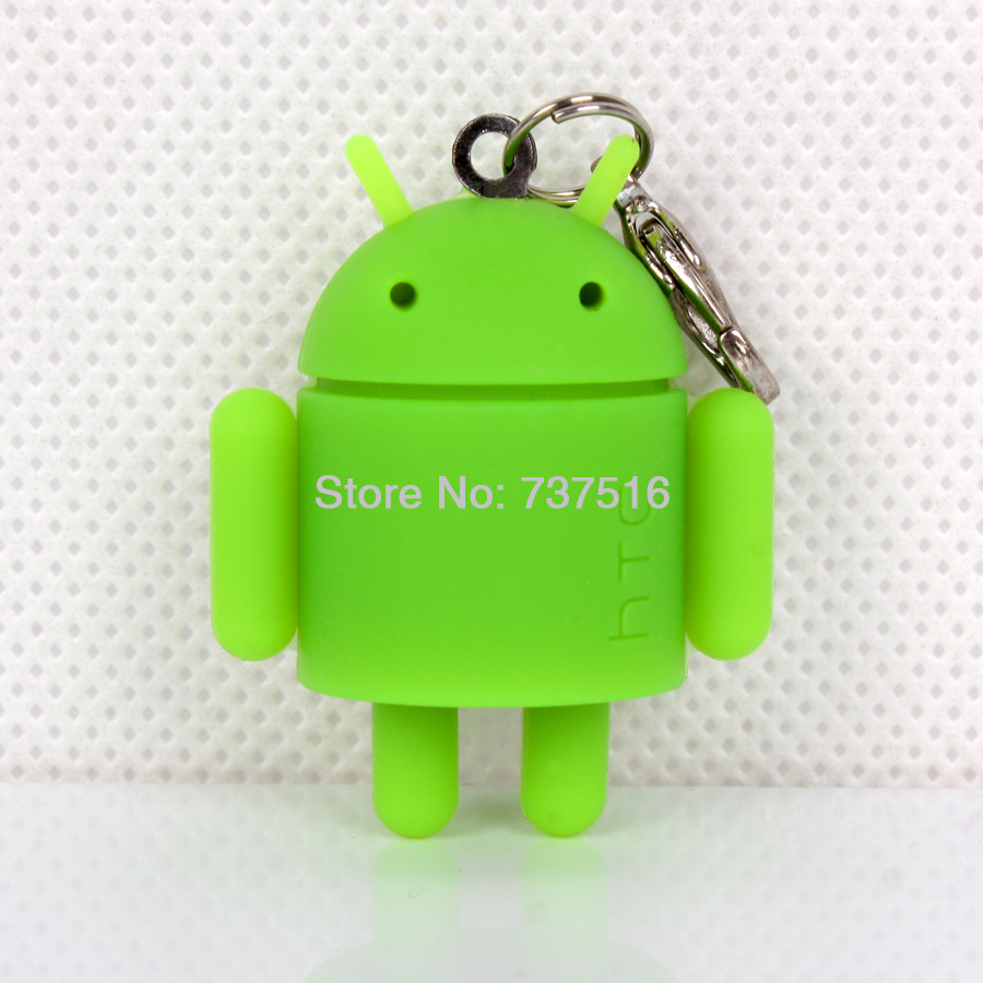 Lovely New Android Mini Green Robot Figures Toy Doll Mascot Collectible Product Rare Model Toys US Free Ship