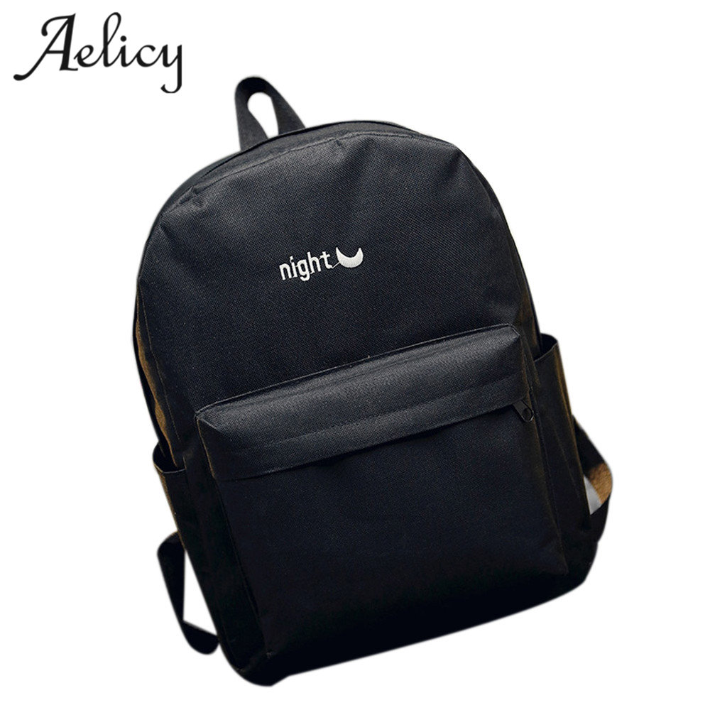 Simple Canvas Backpack Student Bags Satchel Backpack For Girl Rucksack Backpack Female Leather