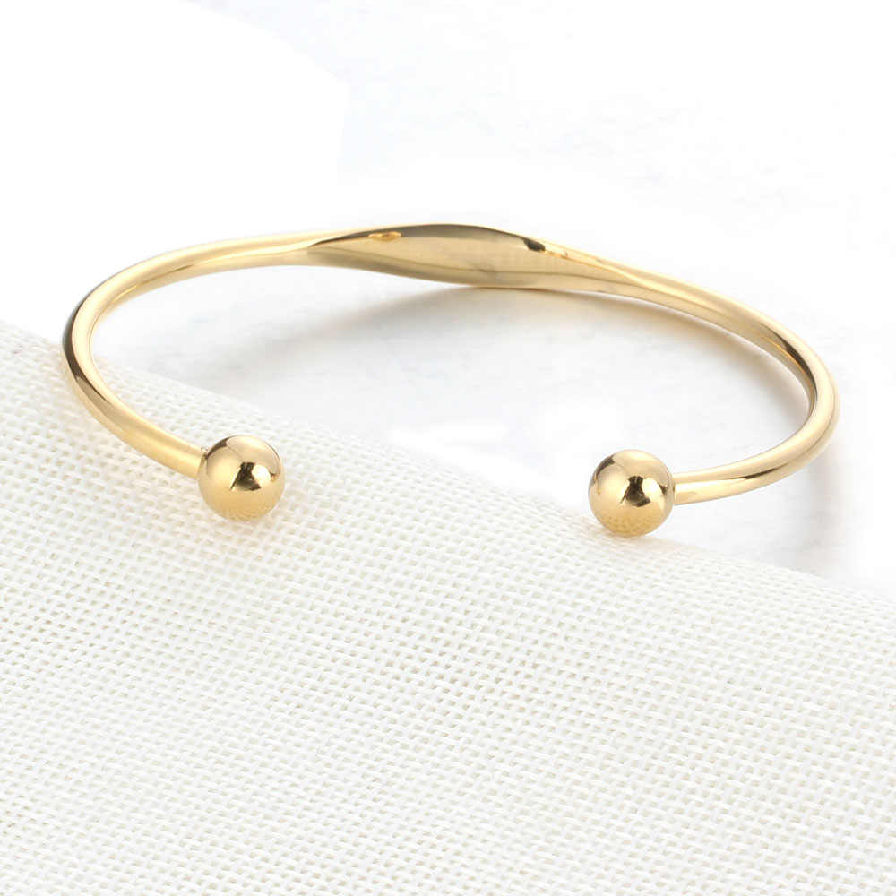 Authentic Stainless Steel Bracelet Snake Chain With Ball Clasp Clip Suitable Bracelets For Women Bead Charm
