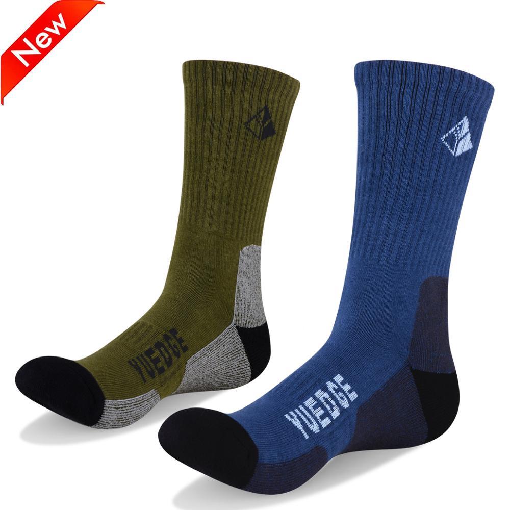 YUEDGE High Quality Men's Socks Coolmax Cotton Outdoor Sports Hiking Socks Walking Winter Socks Bike Ciclismo Hombre