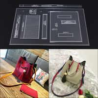 1 set DIY Acrylic Template Sewing stencils Pattern Women's Bucket Shoulder Messenger Bag Leather Craft Sewing Pattern