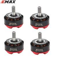 4PCS Lot Original EMAX RS2306 2400KV 2750KV Motor 3 4S Racing Brushess Motor For FPV RACER