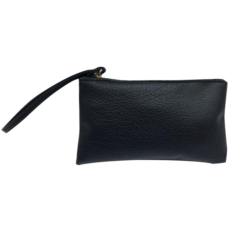 2018 Solid Simple Unisex Wallets PU Leather Bag Zipper Clutch Coin Purse Phone Wristlet Portable Handbag For Shopping