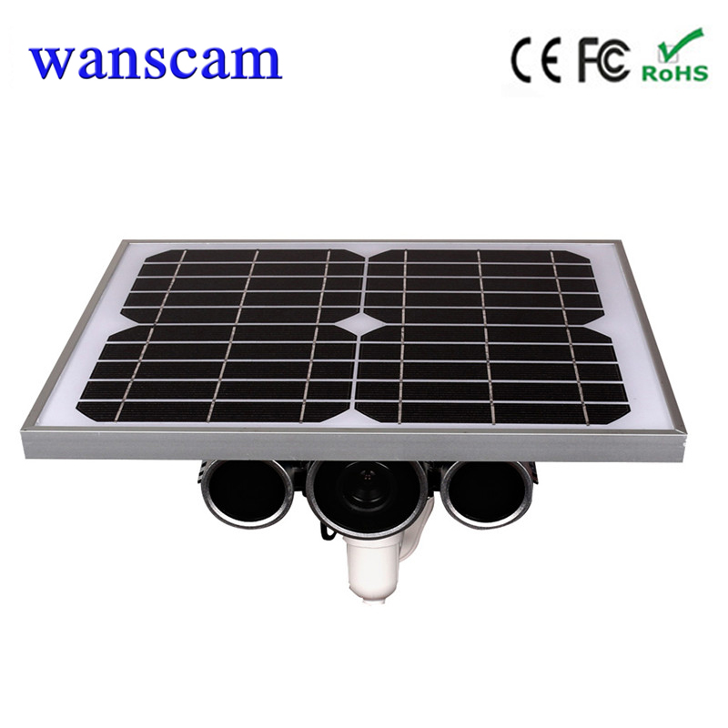 Wanscam HW0029-3 720P solar battery powered wireless wifi ip camera  IR distance 100M  build in 16G TF free shipment solar battery powered butterfly random color