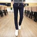 2016 primavera y Otoño nueva moda casual para hombre pantalones ropa pantalones pantalones masculinos rectos de los hombres de la marca de la Marca de calidad Superior
