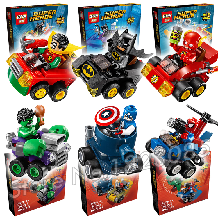 2016 New Super Heroes Mighty Micros Batman vs. Catwoman Model Building Bricks Boys Toys Compatible with Lego