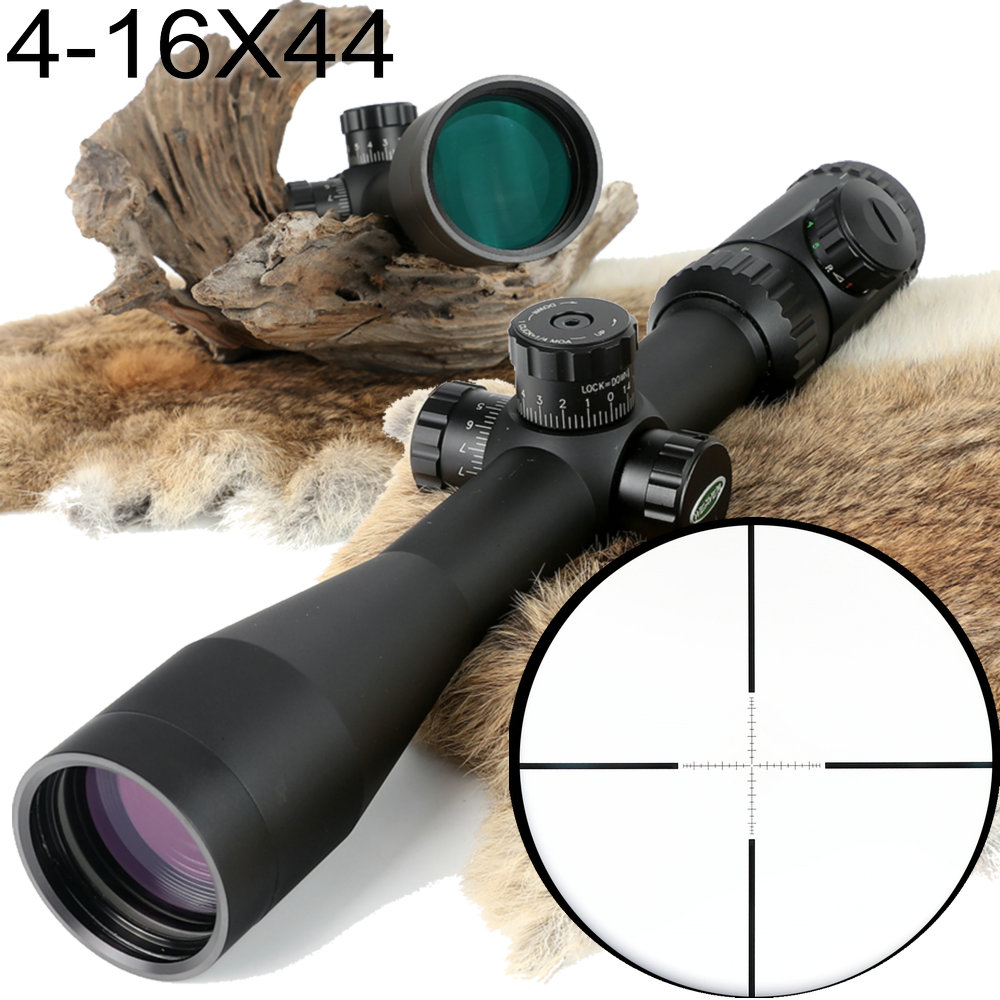 Hunting Shooting 4-16X44 Optical Sight P4 Glass Etched Reticle Riflescopes Side Parallax Adjustment Rifle Scope