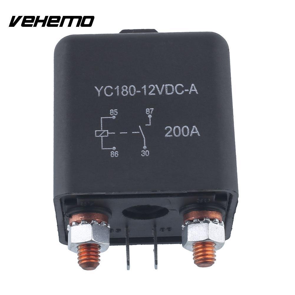 Vehemo 12V 200A Relä 4 stift för bil Auto Heavy Duty Installera - Reservdelar och bildelar - Foto 4